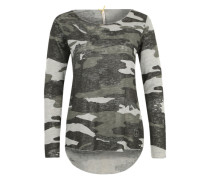 Shirt in Camouflage 'Wls Hide' oliv