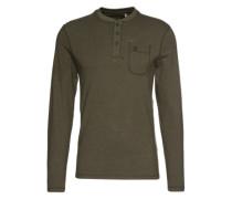 Shirt 'LM Jacks Base Henley LS Top' dunkelgrün