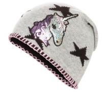 Woll-Mütze mit Einhorn-Muster