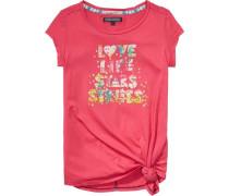 kurzärmeliges T-Shirt »Britt SN Knit S/s« mischfarben / pitaya