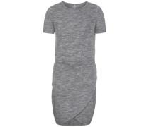 Kleid mit kurzen Ärmeln 'nitsol' grau / graumeliert