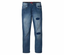 Stretch-Jeans dunkelblau