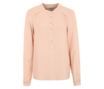 Chiffonbluse im Destroyed-Look rosa