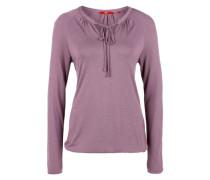 Flammgarn-Shirt mit Bändern lila
