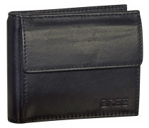 Pocket 106 Geldbörse Leder 10 cm schwarz