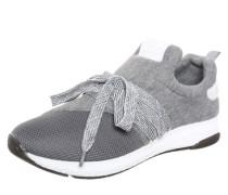 Sneaker in Mesh-Look grau / weiß