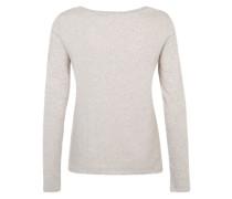 ESPRIT Langarmshirt beige / weiß