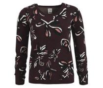 Pullover 'olara' aubergine / rosa / weiß