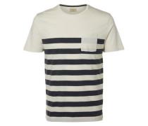 O-Ausschnitt-T-Shirt weiß