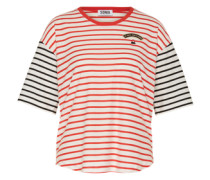 T-Shirt 'Mc Raye' rot / schwarz / weiß