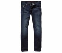 Straight-Jeans »Liam (Stretch)« blau