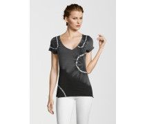 T-Shirt Batik V Neck schwarz