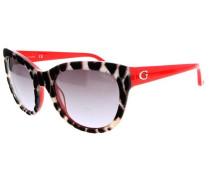 Sonnenbrille 'gu7429-74B' rot / schwarz
