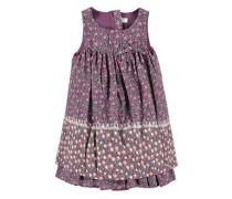 Ärmelloses Kleid dunkellila / rosa / neonpink