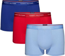 Unterwäsche '3P Trunk' blau / rauchblau / rot