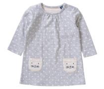 Baby Jerseykleid mit aufgenähten Taschen grau