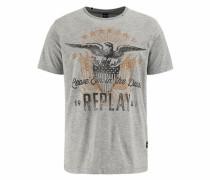 T-Shirt sand / graumeliert