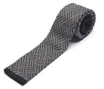 Klassische Krawatte schwarz / weiß