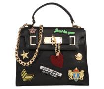 Handtasche 'Amazonite' mischfarben / schwarz