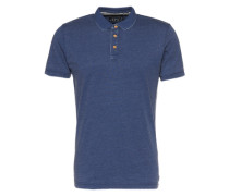 Poloshirt 'Burn Out' blau