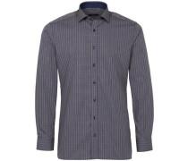 Langarm Hemd blau / braun