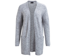 Strickjacke Strick grau