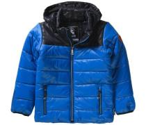 Winterjacke Wolf für Jungen blau