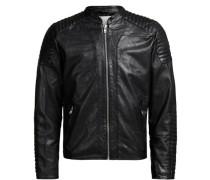 Lammleder Biker-Lederjacke schwarz