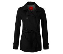 Jacke im Trenchcoat-Style schwarz