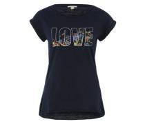 T-Shirt mit Print blau