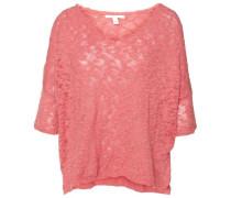 'knit' Pullover mit Struktur rosa