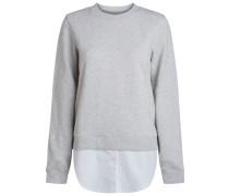 Verdecktes Hemd-Sweatshirt grau