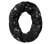 Blumen-Schlauchschal mischfarben / schwarz