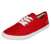 Sneaker aus Stoff rot