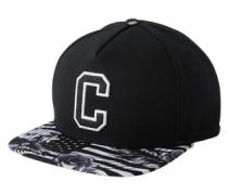 Cap 'c&s GLD Cee Flagged' schwarz / weiß
