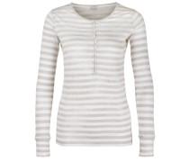 Longsleeve 'Moscow Stripe Linen' beige / weiß