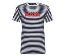 T-Shirt 'Daruvar r t s/s' dunkelblau / rot / weiß