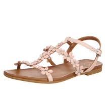 Sandalen mit Blumendetails rosa