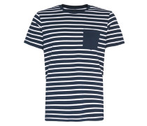 Shirt 'jcotable TEE SS Stripe NO' navy / weiß