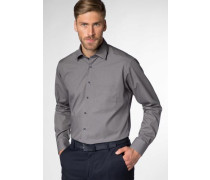 Langarm Hemd Modern FIT grau / taupe
