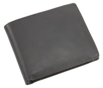 Brooklyn Geldbörse Leder 12 cm schwarz