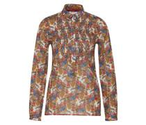 Bluse mit Blumenmuster braun / mischfarben