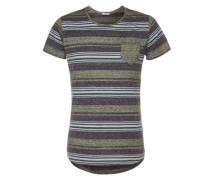 T-Shirt blau / grau / grün