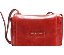 Passepartout Donna Leder Mini Bag Umhängetasche 23 cm rot