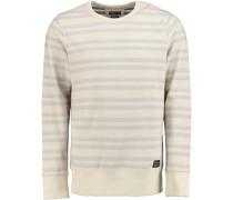 Sweatshirt 'fishbone' beige / offwhite