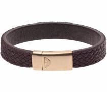 Armband 'egs2378251' dunkelbraun / rosegold
