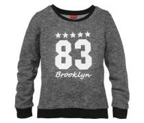 Sweatshirt bedruckt für Mädchen graumeliert