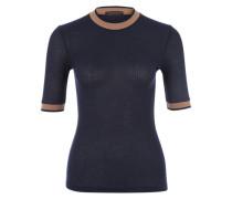 Ripp-Shirt 'Sarina' beige / navy