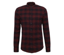 Flanell-Hemd im Karo-Design 'Andrew' weinrot / schwarz