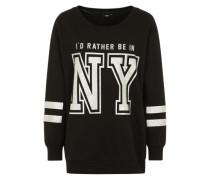 Sweater mit Print schwarz